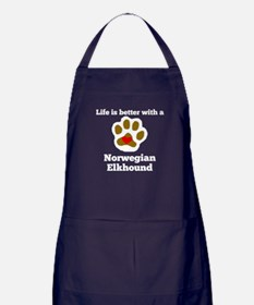 Life Is Better With A Norwegian Elkhound Apron (da