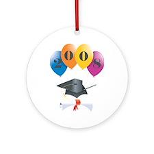 2008 Graduation Balloons Ornament (Round)