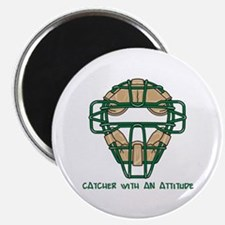 "Catcher with an Attitude 2.25"" Magnet (10 pack)"