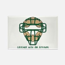 Catcher with an Attitude Rectangle Magnet