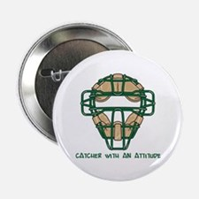 """Catcher with an Attitude 2.25"""" Button (10 pack)"""