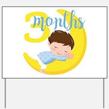 3 Months Baby Boy Monthly Milestone Yard Sign