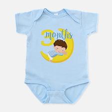 3 Months Baby Boy Monthly Mileston Infant Bodysuit