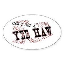 Yee Haw Oval Decal