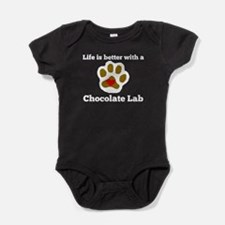 Life Is Better With A Chocolate Lab Baby Bodysuit