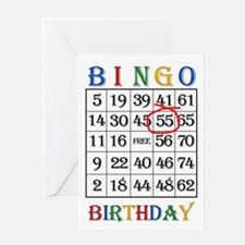 55th birthday Bingo card Greeting Cards