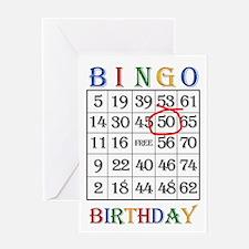 50th birthday Bingo card Greeting Cards