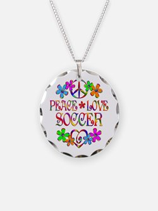 Peace Love Soccer Necklace