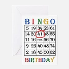 41st birthday Bingo card Greeting Cards