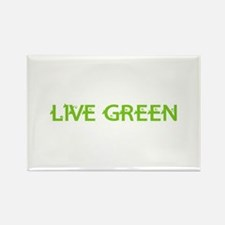 Live Green Rectangle Magnet (100 pack)