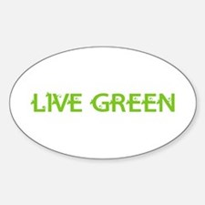 Live Green Oval Decal