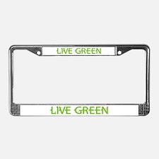 Live Green License Plate Frame