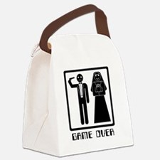 Cute Game over Canvas Lunch Bag