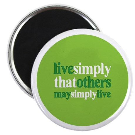 """Live simply that others may s 2.25"""" Magnet (10 pac"""