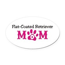 Flat-Coated Retriever Oval Car Magnet
