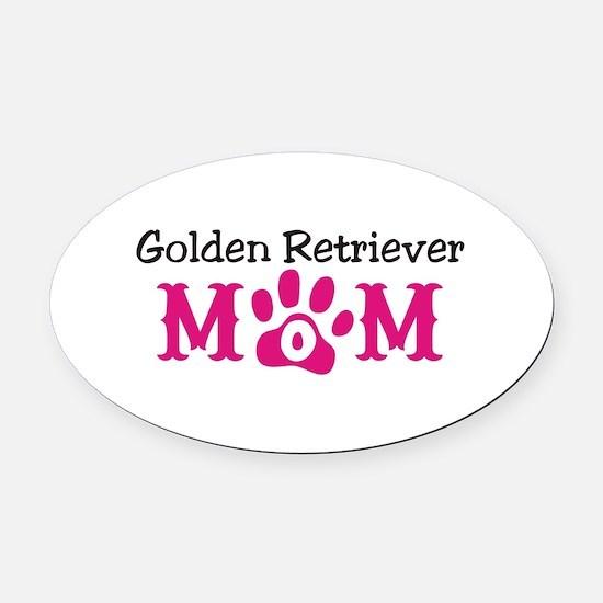 Golden Retriever Oval Car Magnet