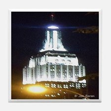 Silver Empire State Building Tile Coaster
