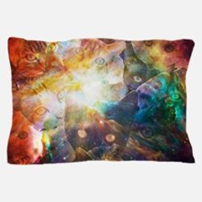 The Cat Galaxy Pillow Case