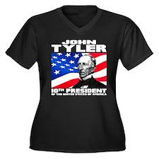 10 Tyler Women's Plus Size V-Neck Dark T-Shirt