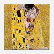 Klimt 'The Kiss' Lovers Tile Coaster