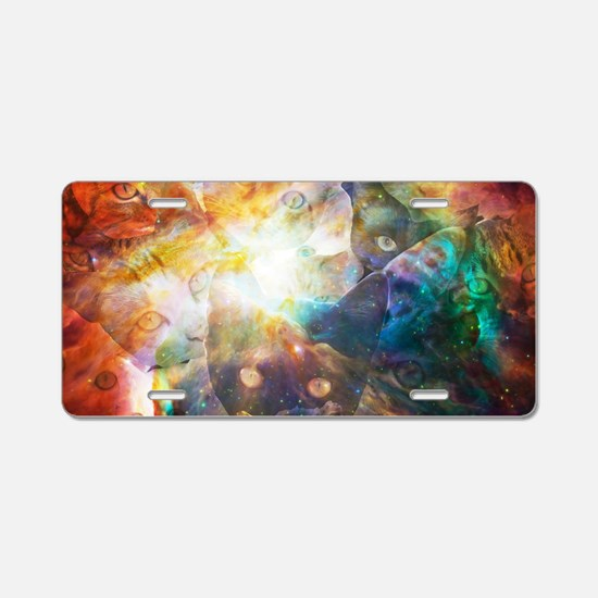 The Cat Galaxy Aluminum License Plate