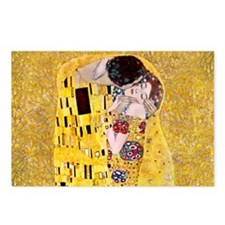 Klimt 'The Kiss' Lovers Postcards (Package of 8)