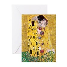 Klimt 'The Kiss' Lovers Greeting Cards