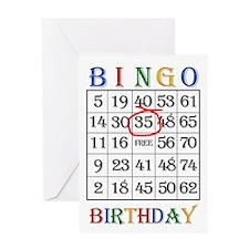 35th birthday Bingo card Greeting Cards