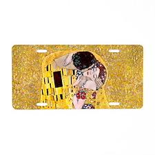 Klimt 'The Kiss' Lovers Aluminum License Plate