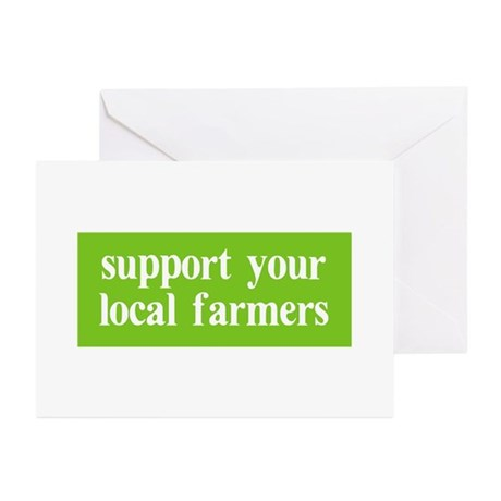 Support your local farmers Greeting Cards (Pk of 2