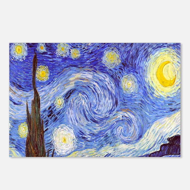 Starry Night Van Gogh Postcards (Package of 8)