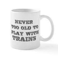 play with trains Small Mug
