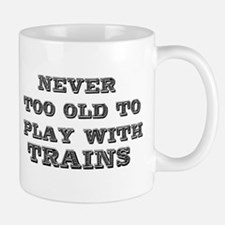 play with trains Small Mug
