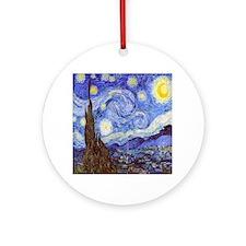 Starry Night Van Gogh Ornament (Round)