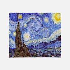 Starry Night Van Gogh Throw Blanket