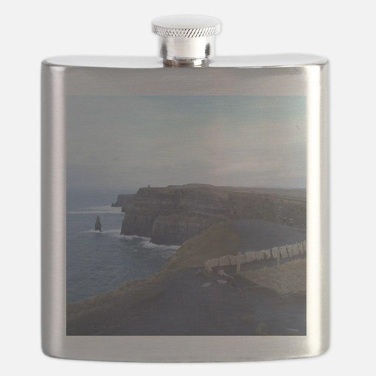 Cute Cliffs of moher Flask
