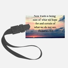 HEBREWS 11:1 Luggage Tag