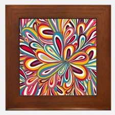 Flowers Bright Framed Tile