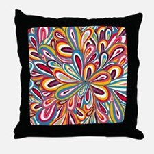 Flowers Bright Throw Pillow