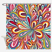 Flowers Bright Shower Curtain