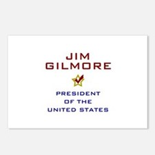 Jim Gilmore President USA Postcards (Package of 8)