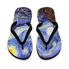 Starry Night Van Gogh Flip Flops