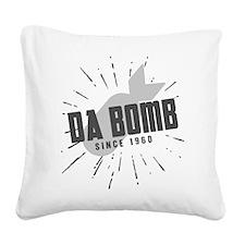 Birthday Born 1960 Da Bomb Square Canvas Pillow