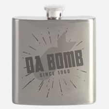 Birthday Born 1960 Da Bomb Flask