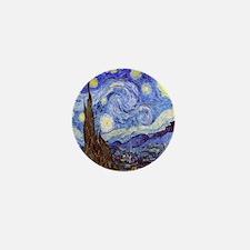 Starry Night Van Gogh Mini Button