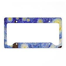 Starry Night Van Gogh License Plate Holder