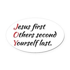 Cute Other beliefs Oval Car Magnet