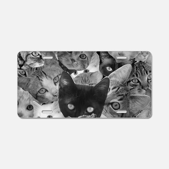Kitty Collage Aluminum License Plate