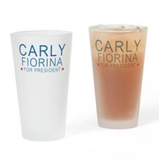 Carly for President Drinking Glass