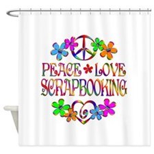 Peace Love Scrapbooking Shower Curtain
